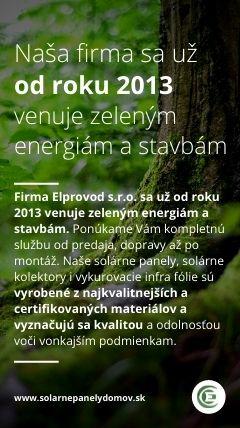 zelené energie od roku 2013