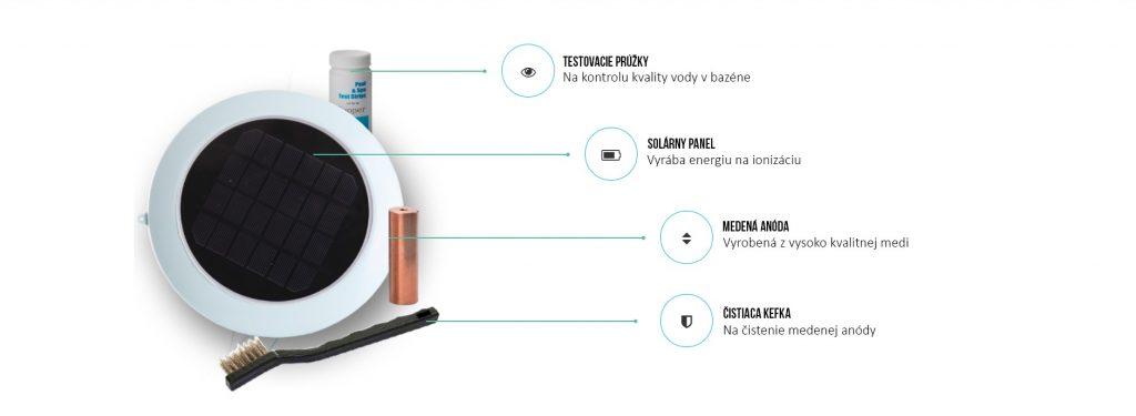 solarny ionizator cistenie bazenov bez chemie