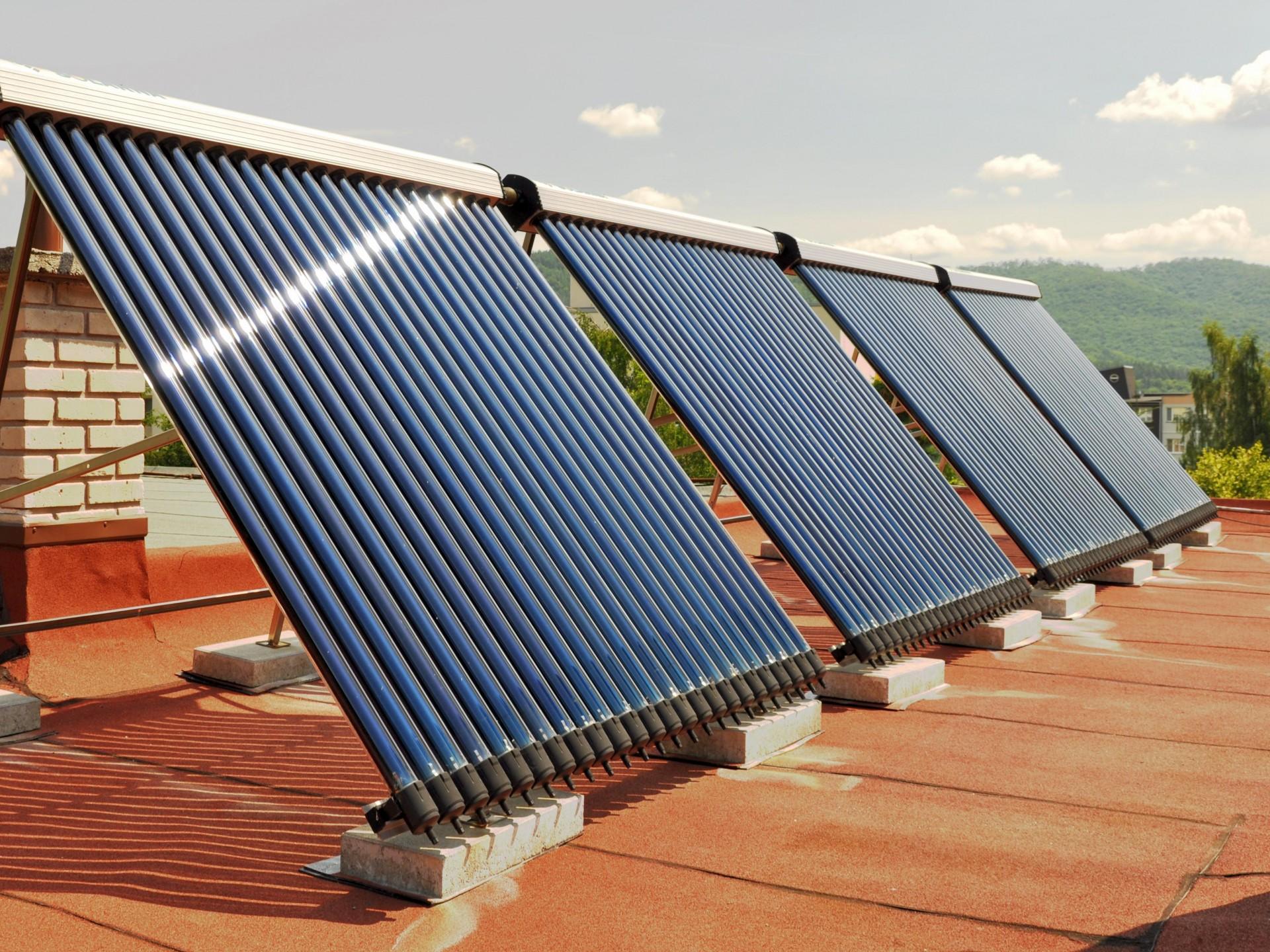 solárne kolektory na ohrev vody v domácnosti
