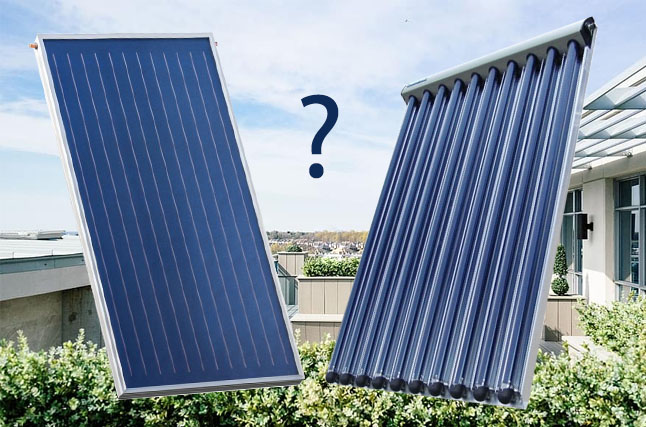 plochý solárny kolektor vs trubicový solárny koektor